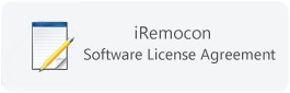 iRemocon Software License Agreement