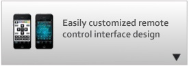 Easily customized remote control interface design.